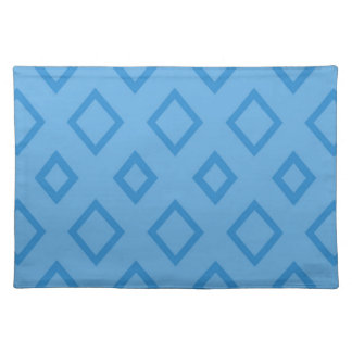 Abstract geometric pattern - blue. placemat