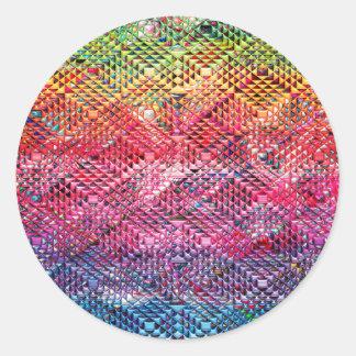 Abstract Geometric Pattern Classic Round Sticker