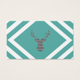 Abstract geometric pattern - Deer - black, blue. Business Card