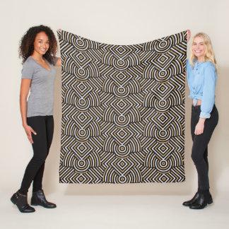 Abstract Geometric Pattern fleece blankets