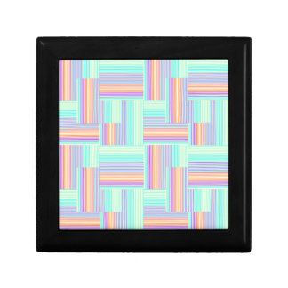 Abstract geometric pattern gift box