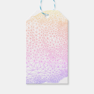 Abstract geometric pattern gift tags