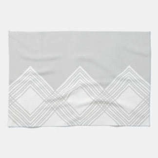 Abstract geometric pattern - gray and white. kitchen towel