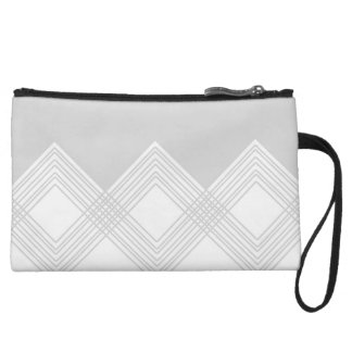 Abstract geometric pattern - gray and white. wristlet