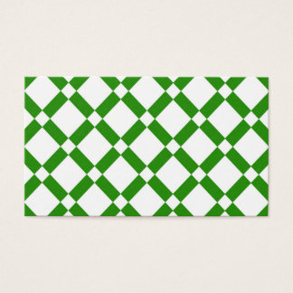 Abstract geometric pattern - green and white. business card