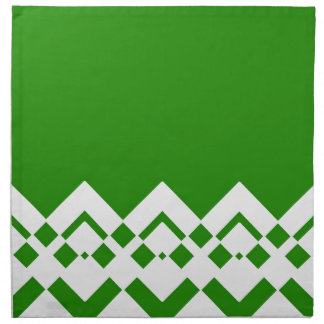 Abstract geometric pattern - green and white. napkin