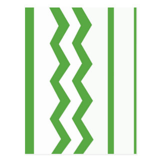 Abstract geometric pattern - green and white. postcard