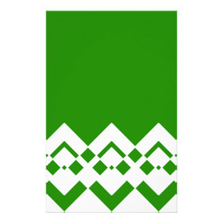 Abstract geometric pattern - green and white. stationery