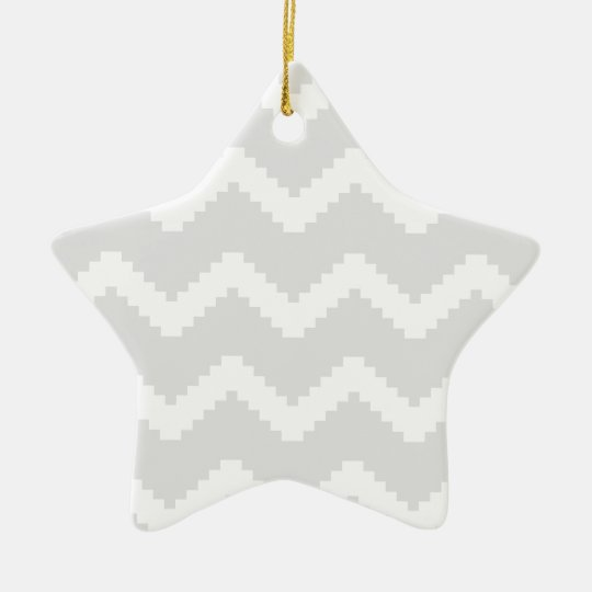 Abstract geometric pattern - grey and white. ceramic ornament