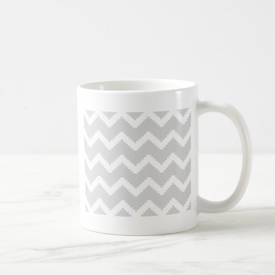 Abstract geometric pattern - grey and white. coffee mug