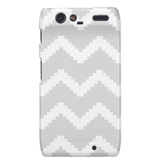 Abstract geometric pattern - grey and white. motorola droid RAZR covers