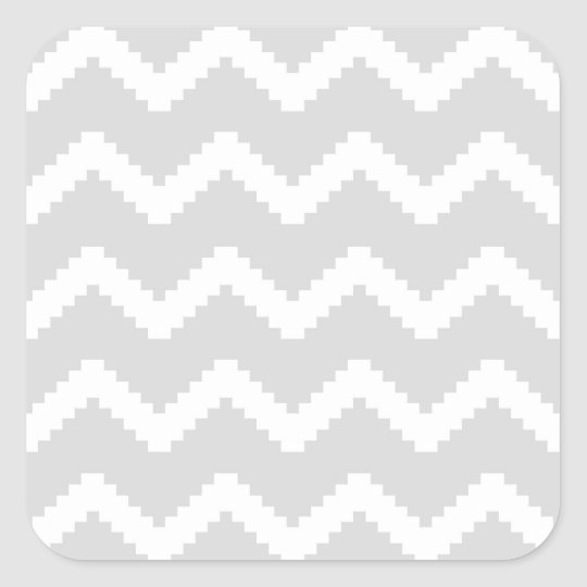 Abstract geometric pattern - grey and white. square sticker