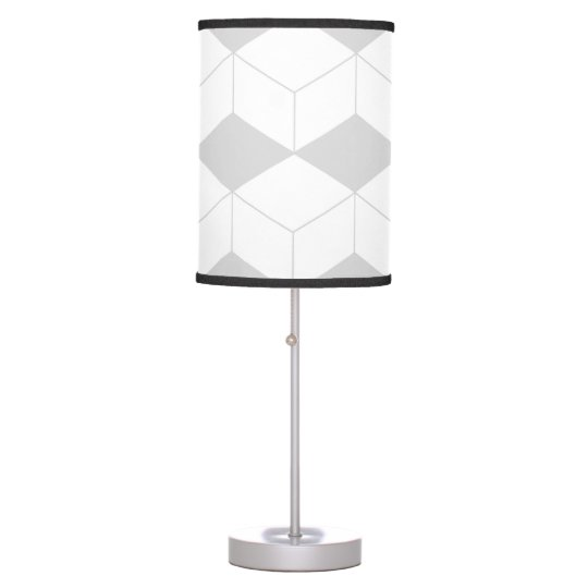 Abstract geometric pattern - grey and white. table lamp