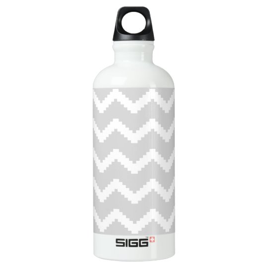 Abstract geometric pattern - grey and white. water bottle