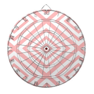 Abstract geometric pattern - pink and white. dartboard