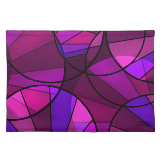 Abstract geometric pattern placemat
