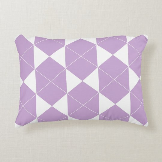 Abstract geometric pattern - purple. accent pillow