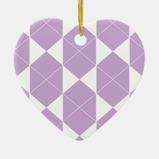 Abstract geometric pattern - purple. ceramic ornament