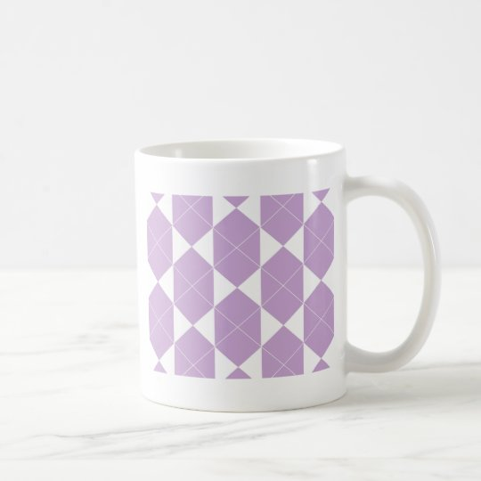 Abstract geometric pattern - purple. coffee mug