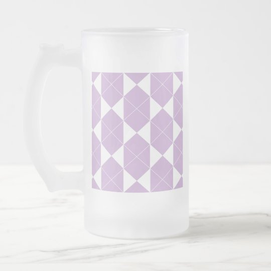 Abstract geometric pattern - purple. frosted glass beer mug
