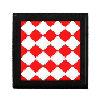 Abstract geometric pattern - red and white. gift box