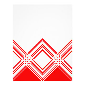 Abstract geometric pattern - red and white. letterhead