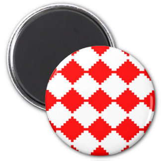 Abstract geometric pattern - red and white. magnet
