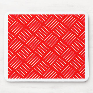 Abstract geometric pattern - red and white. mouse pad