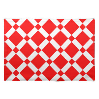 Abstract geometric pattern - red and white. placemat