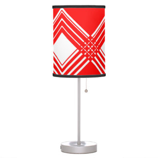 Abstract geometric pattern - red and white. table lamp