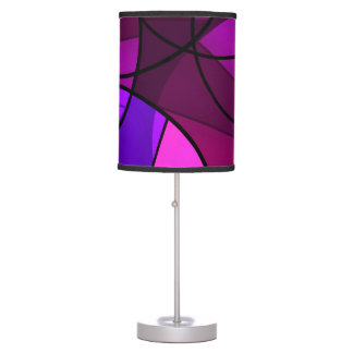 Abstract geometric pattern table lamp