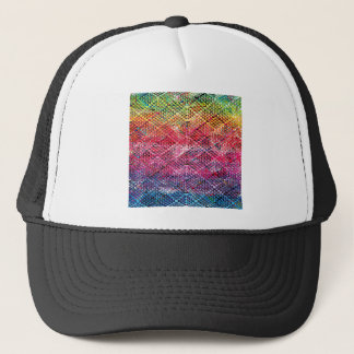 Abstract Geometric Pattern Trucker Hat