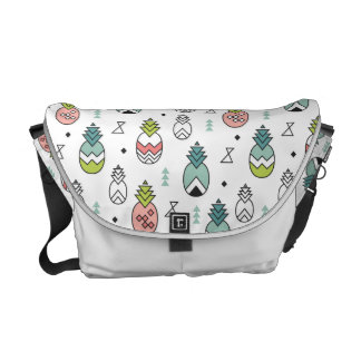 Abstract Geometric Pineapple Seamless Pattern Messenger Bag
