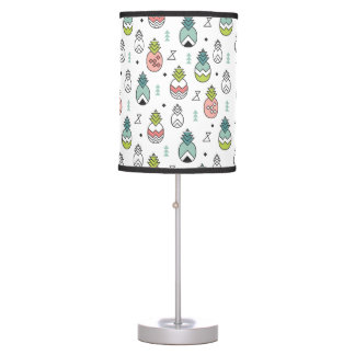Abstract Geometric Pineapple Seamless Pattern Table Lamp