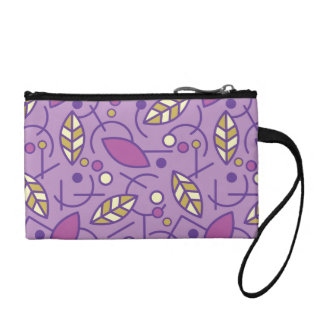 Abstract Geometric Purple Seamless Pattern Coin Purse