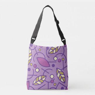 Abstract Geometric Purple Seamless Pattern Crossbody Bag