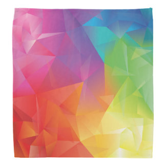 Abstract Geometric Rainbow Bandana