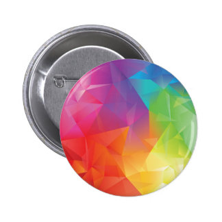 Abstract Geometric Rainbow Button