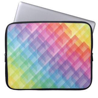 Abstract Geometric Rainbow Cube Laptop Sleeve
