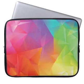 Abstract Geometric Rainbow Laptop Sleeve