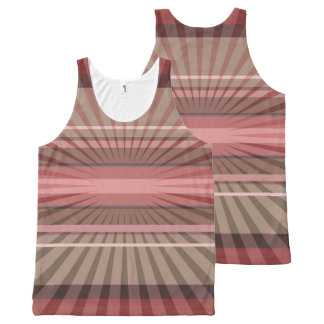 Abstract Geometric Rays and Stripes All-Over-Print Tank Top