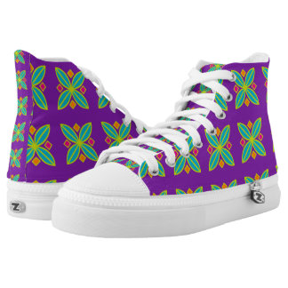 Abstract geometric sneakers