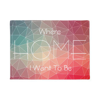 Abstract Geometric Triangulate Design Doormat