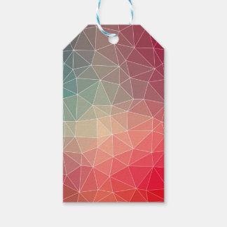 Abstract Geometric Triangulate Design Gift Tags