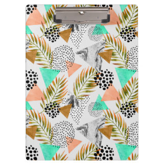 Abstract Geometric Tropical Leaf Pattern Clipboard