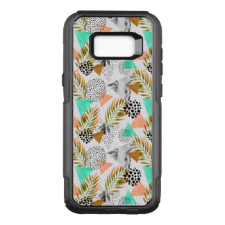 Abstract Geometric Tropical Leaf Pattern OtterBox Commuter Samsung Galaxy S8+ Case