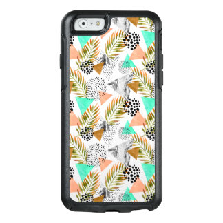 Abstract Geometric Tropical Leaf Pattern OtterBox iPhone 6/6s Case