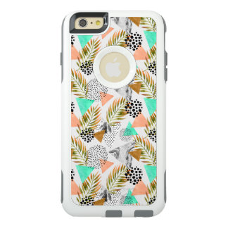 Abstract Geometric Tropical Leaf Pattern OtterBox iPhone 6/6s Plus Case