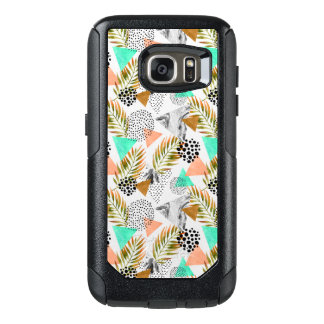 Abstract Geometric Tropical Leaf Pattern OtterBox Samsung Galaxy S7 Case