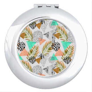 Abstract Geometric Tropical Leaf Pattern Travel Mirror